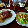TONY ROMA'S美式碳烤肋排餐+炸洋蔥磚+香酥薯條+冰紅茶+法式洋蔥湯+生菜沙拉