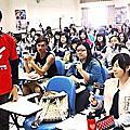 2014年3月26日譚執行長到台北板橋致理技術學院進行反毒宣導