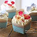 【蛋糕】簡單奶油香緹杯子蛋糕。Cupcake with vanilla chantilly