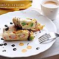 【一人午餐】酪梨&蟹肉的歐姆蕾烘蛋。avocado&seafood stick omelet