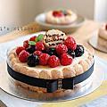 【蛋糕】白巧克力慕斯 莓果夏綠地蛋糕。(補上作法)
