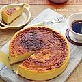 【蛋糕】穀物麥片餅乾底的「芒果起司蛋糕」。Mango cheesecake (GBBO-4)