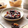 【甜點】「只想窩在家的休日好食光」漏網料理,再度神遊比利時的「繽紛果乾巧克力」。