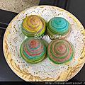 彩虹芋頭酥-4色彩虹酥~斜捲法