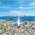 【新店建案】欣聯心-350米雙捷運交匯,坐落上千坪生態公園、百貨商場、摩天大樓附近的絕佳地理位置