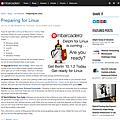 Preparing for Linux