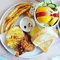 六吋盤早午餐-台南富農店