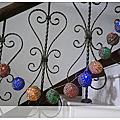 露營手作-籐球燈