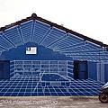 金門中堡藍晒圖彩繪