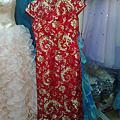 我的手工結婚旗袍禮服