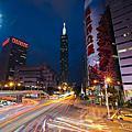 夜間攝影│信義區。台北101:浪漫曼哈頓