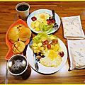 2017.10.22   宜蘭礁溪「山月22」日本彩繪館4-3餐廳與早餐篇