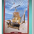 Castorland:小貓海灘椅500片