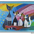 金箔貓:彩虹下的聚會1000片