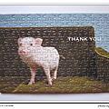 隨行杯150片迷你拼:小豬感謝卡
