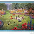 小熊維尼油畫夏天1014片:美好的午后
