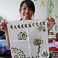 20160629【全職媽媽遛小孩-219】愛地球愛自己 植物染~蔬果印花手帕