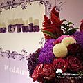 花藝場佈-典雅紫紅