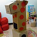 親子DIY-紙箱長頸鹿