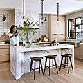 40款亮木色系統櫥櫃(廚房廚具)