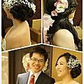 很愛鮮花的微笑新娘  訂婚喜宴新娘秘書