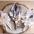 [黑法師]婚禮手作-胸花