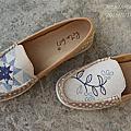 Rita617 手工鞋(布紙飾鞋)