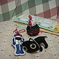 猴子設計公司-明信片+手縫小物