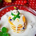 仿真甜點黏土-融化的雪人鬆餅
