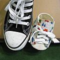 手作嬰兒鞋~*