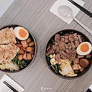 石饕鐵板低卡餐盒坊 台中便當 低卡鐵板舒肥餐!不同於水煮的清爽,更有焦香與口感 ♥