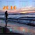 2016月曆(一)