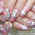 珊卓拉時尚美甲造型-水晶指甲