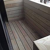 風格木地板*2014*北市大直區南方松實木地板施工*陽台地面與牆面施工*品名:南方松戶外材實木地板-大台北實木地板專賣店/多種海島型超耐磨木地板特價中唷!相簿封面