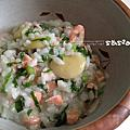 9m6d鮭魚皇帝豆菠菜爛飯