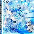 【藍雪花】水漾版/桌布分享