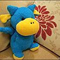 [襪子娃娃] 藍色小恐龍