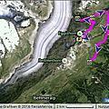 瑞士健行路線圖