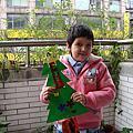 美勞作品:聖誕樹及新年願望