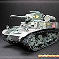 紙模 - M3A1 Stuart 裝甲車