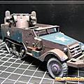 3D紙模-半履帶裝甲車M16 MGMC