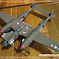 3D紙模- Lockheed P-38H Lightning