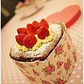 2013情人節の蛋糕-『濃情法式海綿巧克力草莓蛋糕』