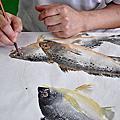基隆監獄第三期魚拓藝師班第四堂學習成果
