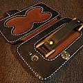 義大利佛羅倫斯植鞣皮革手工縫製手機皮套 Leather case for Galaxy Note 2