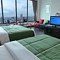 85大樓景觀-R9金色紐約市景四人房