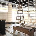 田季發爺林口長庚店 2011-04-01 廚房隔間開工
