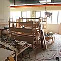 田季發爺林口長庚店 2011-04-08 排煙、木工趕進度!