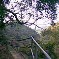 涼山瀑布後面的驚險步道