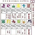 2014-1~12月農民曆